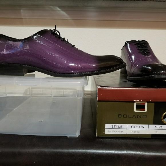 Balano Shoes Men Oxford Dress Purple Black Poshmark